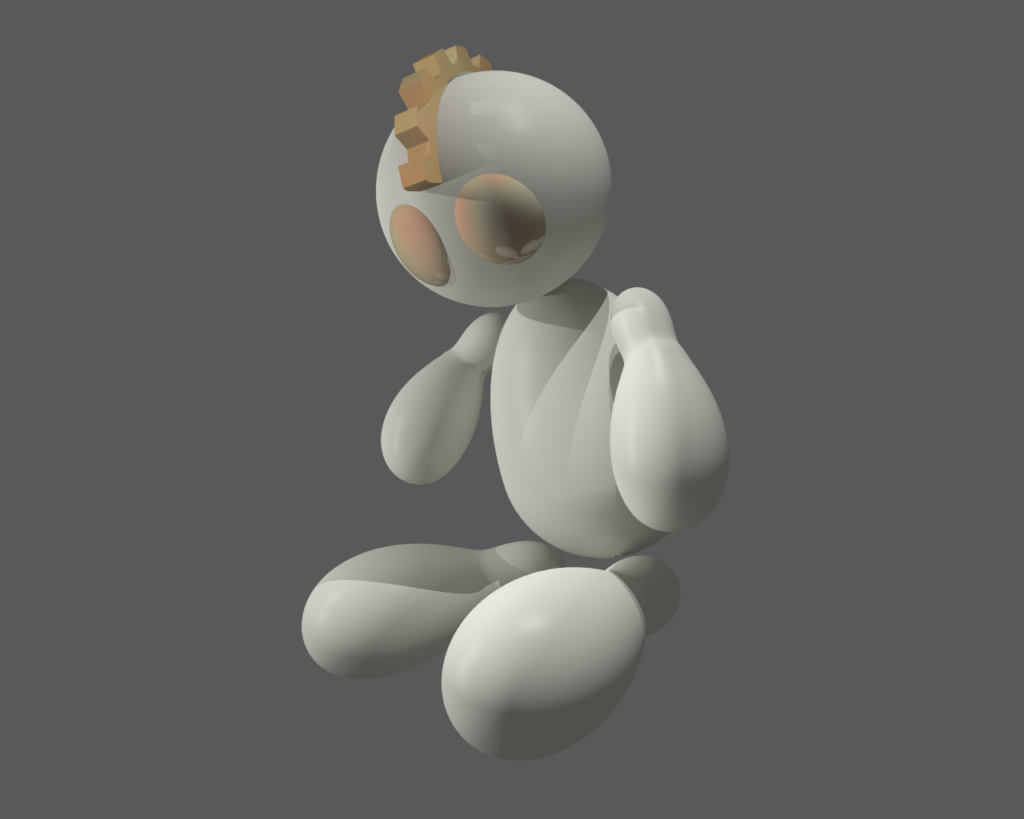 Gear Head Kid Rendered